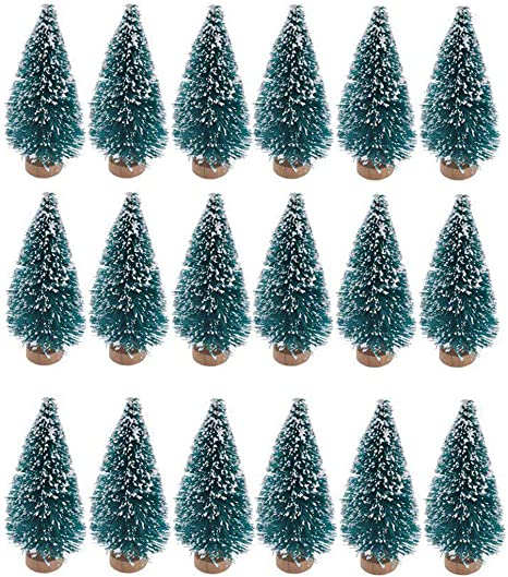ARTIFICIAL CHRISTMAS TREE PLASTIC CHRISTMAS DECORATIONS FOR GREEN MINIATURE TREE