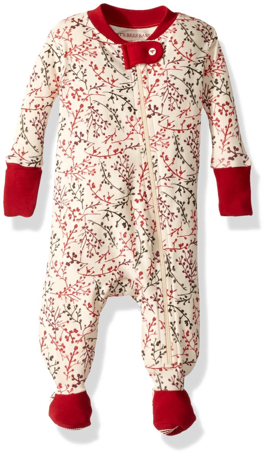 Zip Front Non-Slip Footed Sleeper Pjs 100/% Organic Cotton Sleepers Burts Bees Baby-Boys Sleeper Pajamas