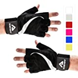 ACHIEVE FIT Weightlifting Gloves - Leather Palm for Fitness savvy Men & Women Firm Grip, Control & Comfort for Weight lifting, Crossfit Training, Gym Workout - Standard or With Wrist Wraps (PAIR)