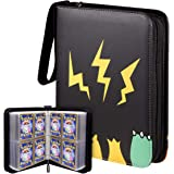 Geecow 4-Pocket Binder Compatible with Pokemon Cards, Portable Storage Case with Removable Sheets Holds Up to 400 Cards…