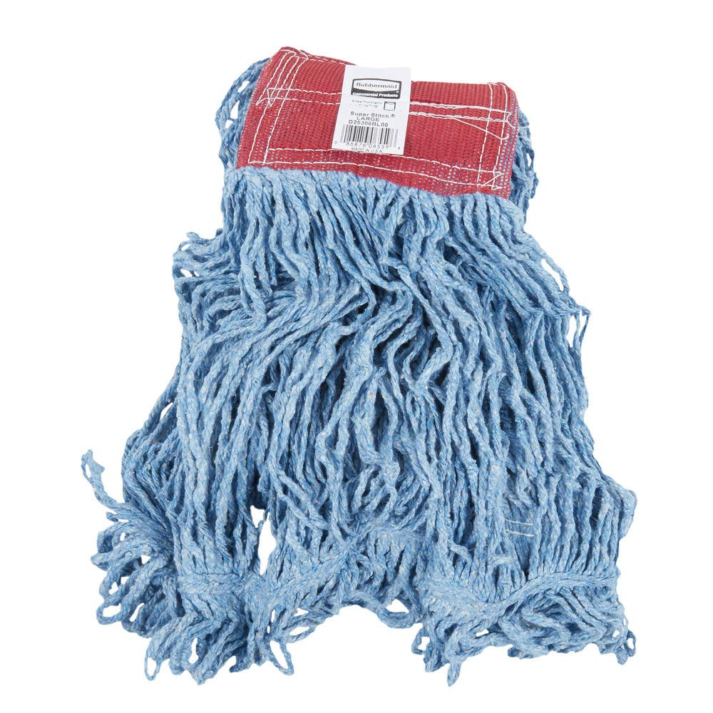FGD21306BL00 Rubbermaid Commercial Blue Super Stitch Blend Mop Head with 1-Inch Headband