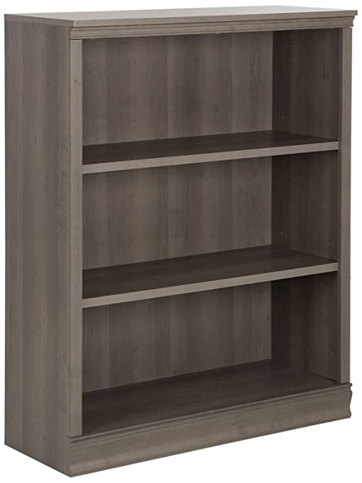 separation shoes 89621 81533 South Shore Morgan Small 3-Shelf Bookcase - Adjustable Shelves, Grey Maple