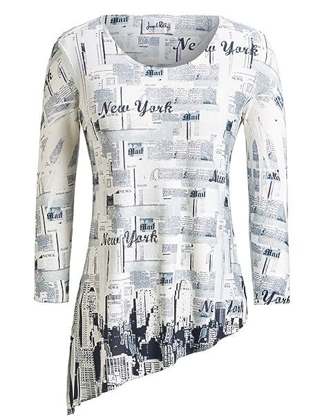 5f7564d3be6 Joseph Ribkoff Ivory & Black New York Newspaper Tunic Top Style 152416 -  Size 8