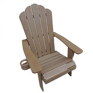 Island Retreat NU3222TK Adirondack Chair, 41.7  L x 30.7  W x 37  H, Teak