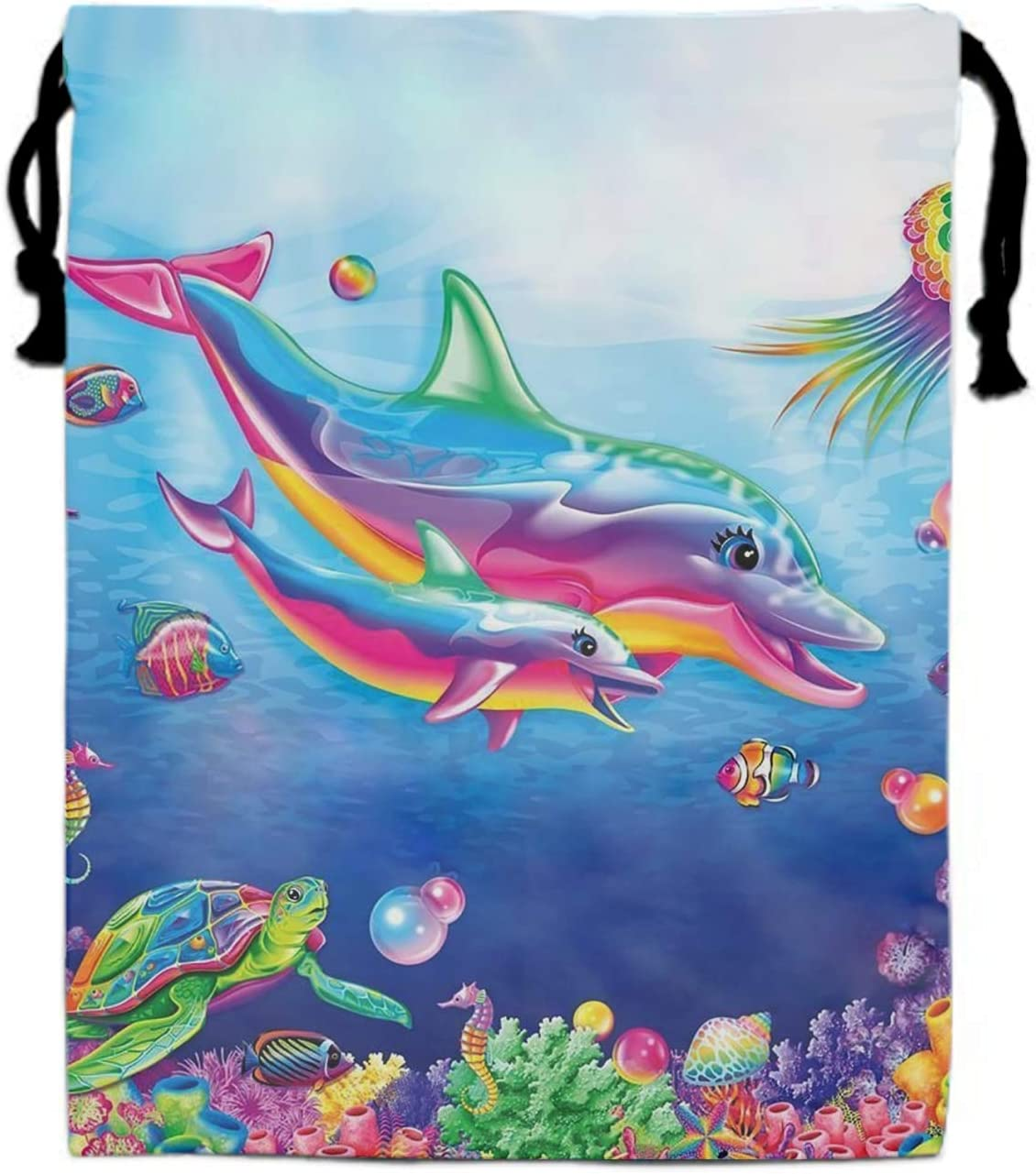 Lisa Frank Wallpaper Drawstring Bag/Shoes Underwear Makeup Laundry Storage Pouch Bags Organizers 15.75 x 11.8 inch
