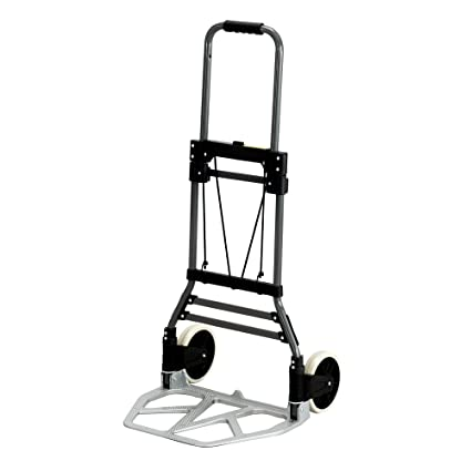 0c2edd8c9b0b Safco Products 4062 Stow-Away Collapsible Utility Hand Truck, Silver/Black