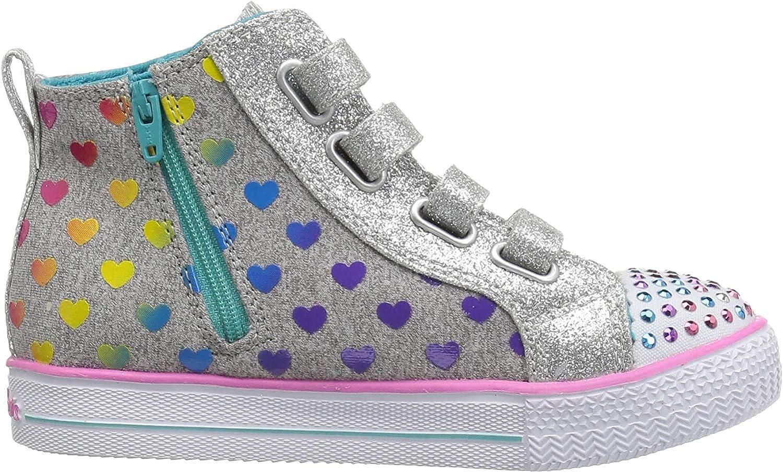 Skechers Kids Shuffle Lite-Fancy Flutters Sneaker