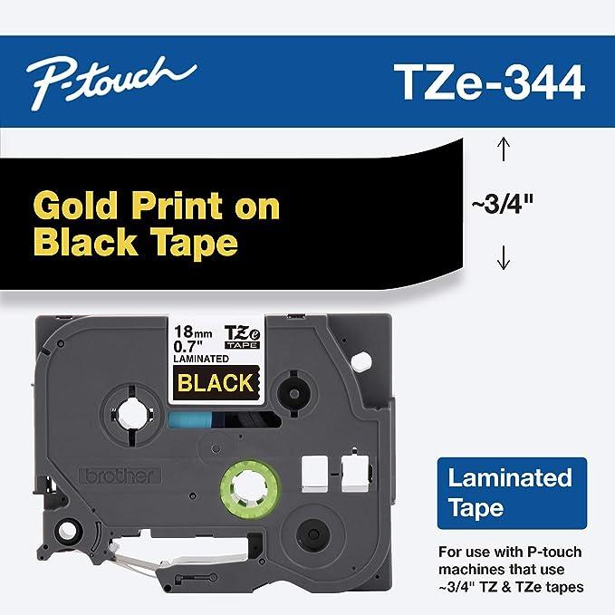 5 Schriftbänder kompatibel zu Brother P-Touch TZE-831 8m//12mm Schwarz auf Gold