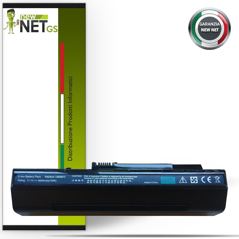Batería para ACER UM08A52  LC.BTP00.017  UM08B32de 6600mAh 10.8–11.1V Compatible con ASPIRE ZG5, 5718.9(Black), A150–1532, A150–1570, A110X Black Edition