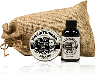 product image for Heavy Duty Beard Balm and Beard Oil by Mountaineer Brand: The Ultimate Beard Conditioning Combo Pack