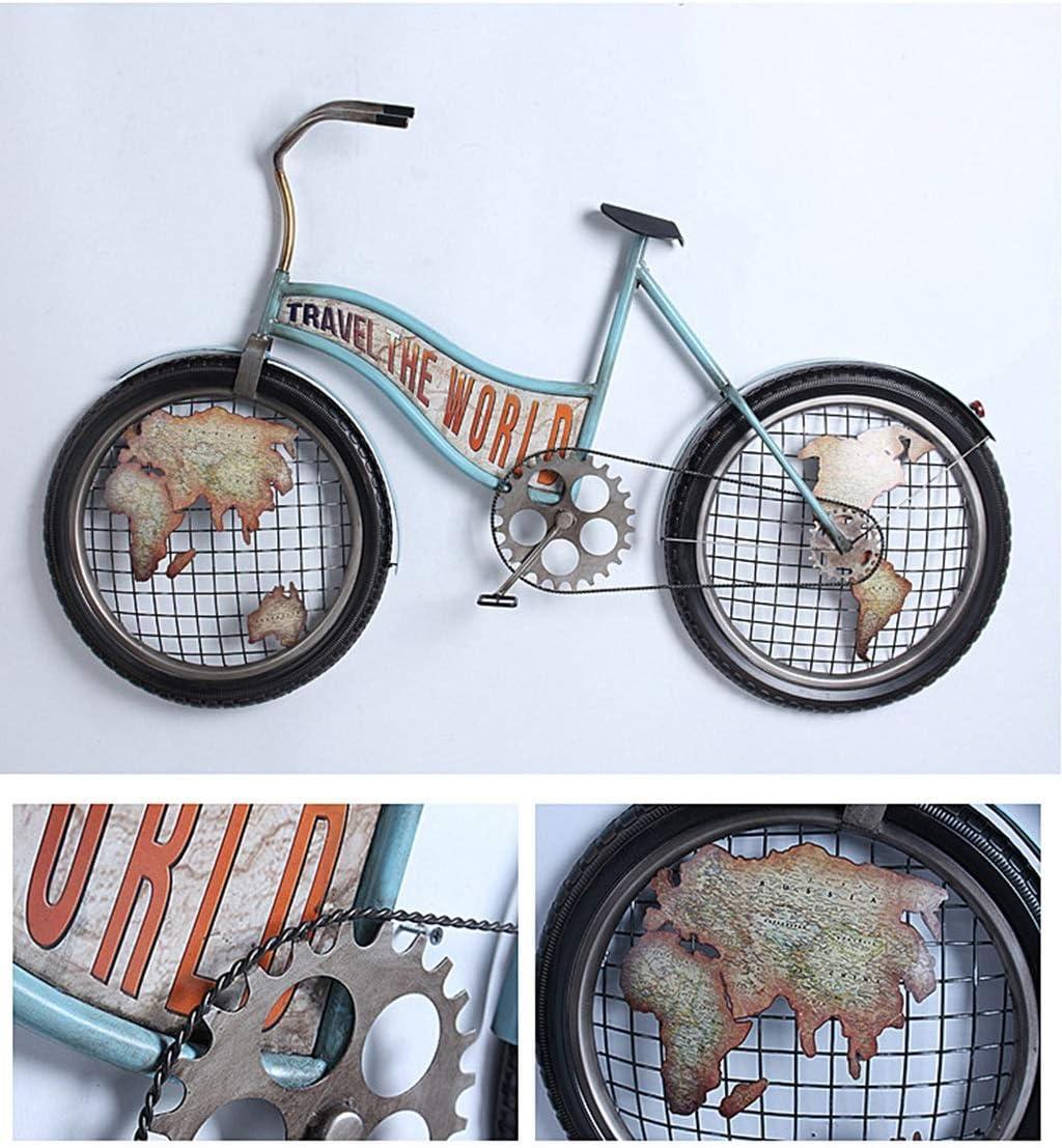 Reloj de Pared Creativo Bicicleta Arte de Hierro Reloj de Color ...