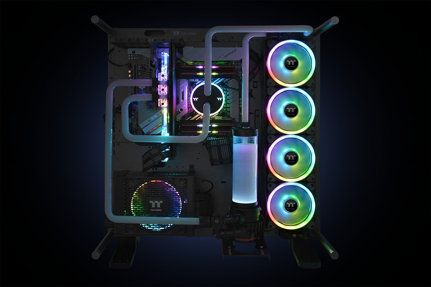 Thermaltake Riing Trio 12 RGB TT Premium Edition 120mm Software Enabled 30 Addressable LED 9 Blades Case/Radiator Fan - 3 Pack - CL-F072-PL12SW-A by Thermaltake (Image #8)