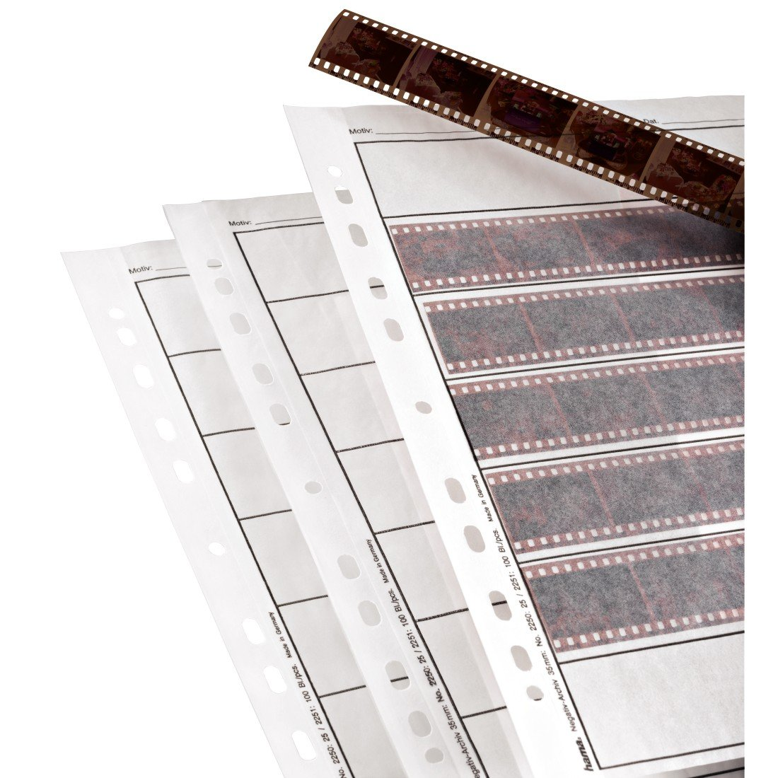 Hama Archival Negative Glassine Sheets Sleeves for 35mm Films - 100pcs by Hama