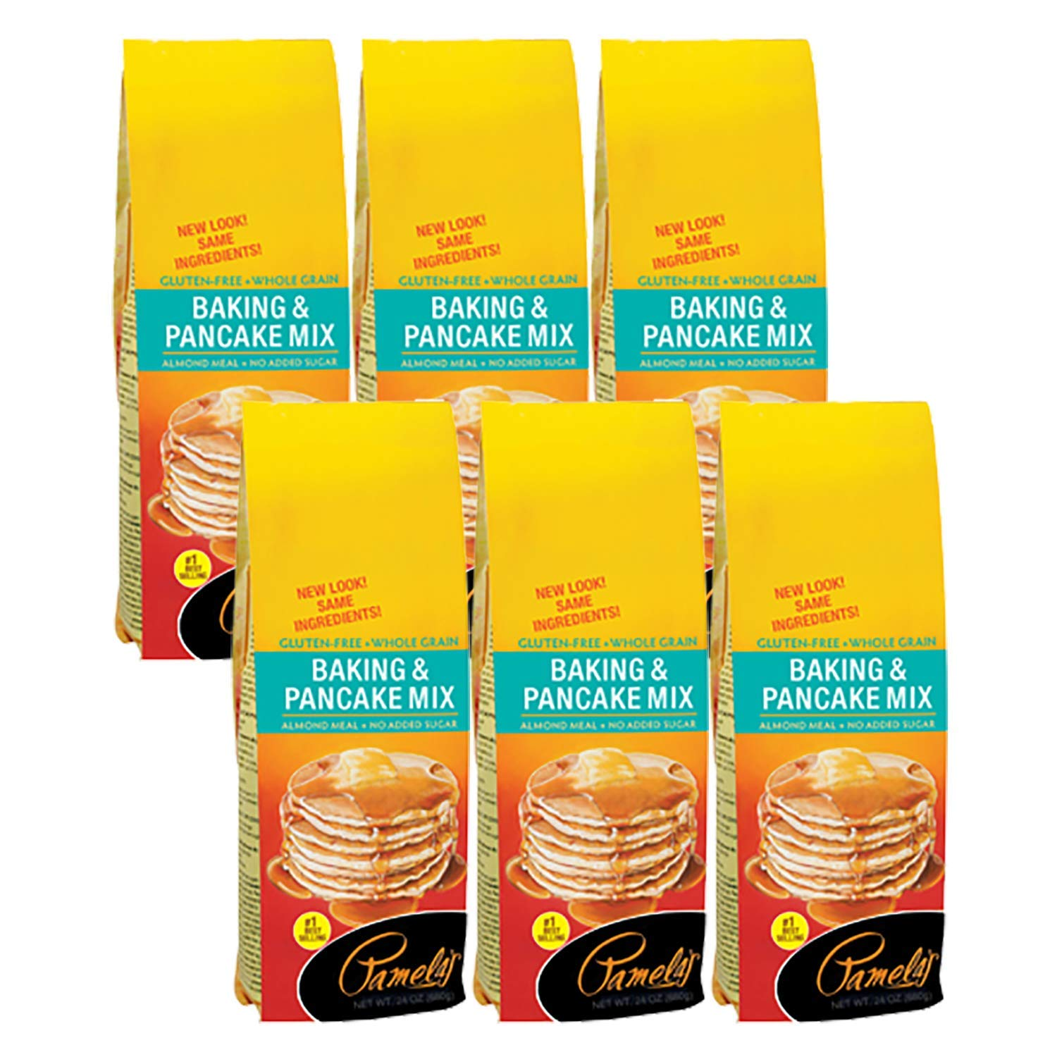 Pamela's Products Gluten and Wheat Free Baking and Pancake Mix - 24 oz- (Pack - 6) by Pamela's Products