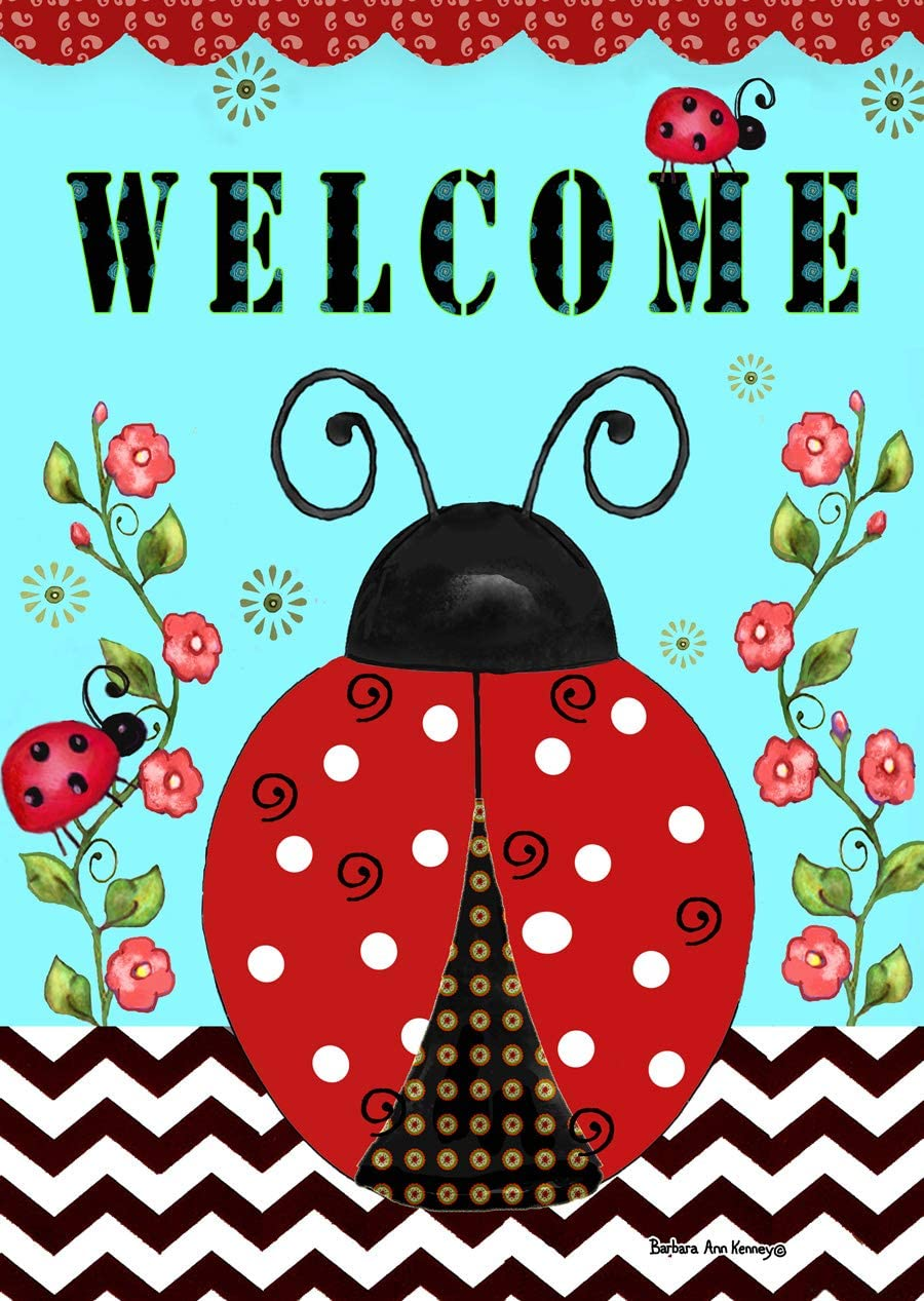 "Briarwood Lane Welcome Ladybugs Spring Garden Flag 12.5"" x 18"""