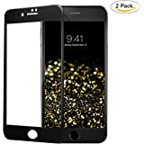 Titanium Alloy Frame iPhone 7/8 Universal Screen Protector Tempered Glass,9H Hardness Matte Texture,3D Touch Metallic Luster,All-inclusive Body,Luxury Design for Apple iPhone 7/8 [Black]