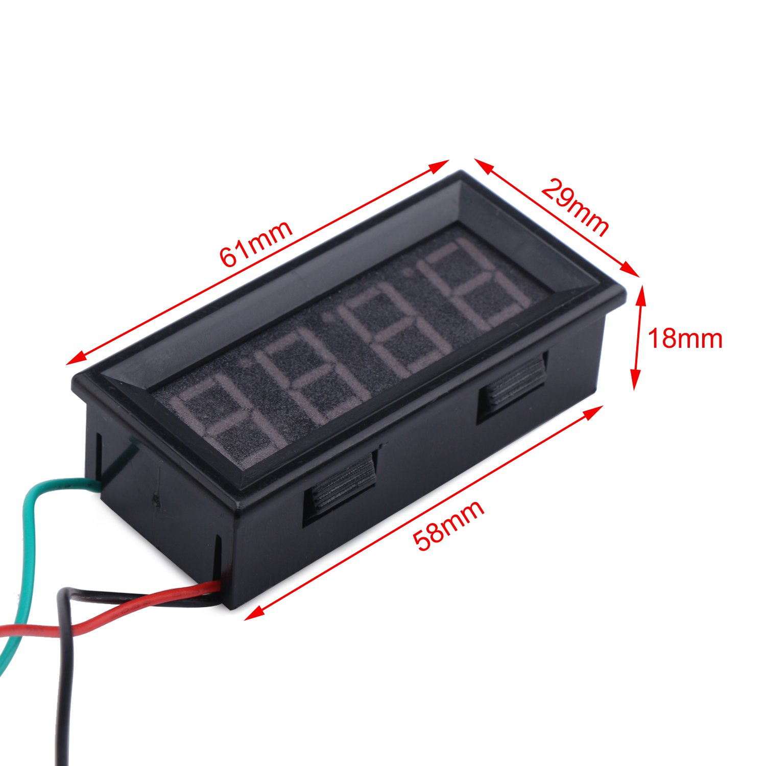 Drok 056 Led Digital Voltmeter Dc 0 33v 4 Digits 3 Wires Voltage Wire Wiring Meter Panel