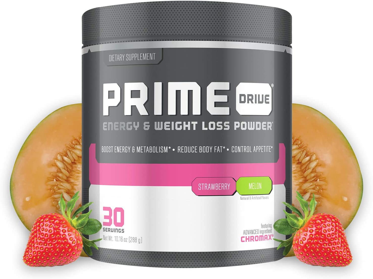 Complete Nutrition Prime Drive Energy Weight Loss Powder, Strawberry Melon, Increase Energy, Boost Metabolism, Fat Burner, Appetite Suppressant, 10.16oz 30 Servings