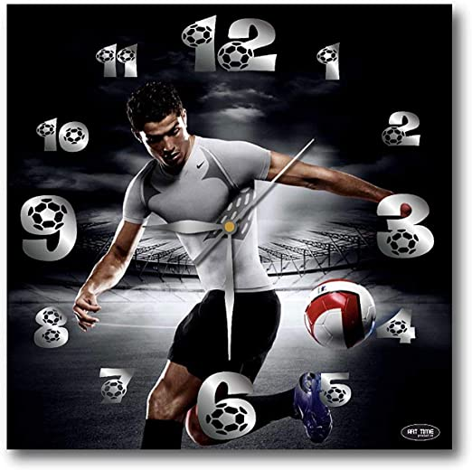 Cristiano Ronaldo Soccer Football Alarm Digital Clock LED Light Night Color