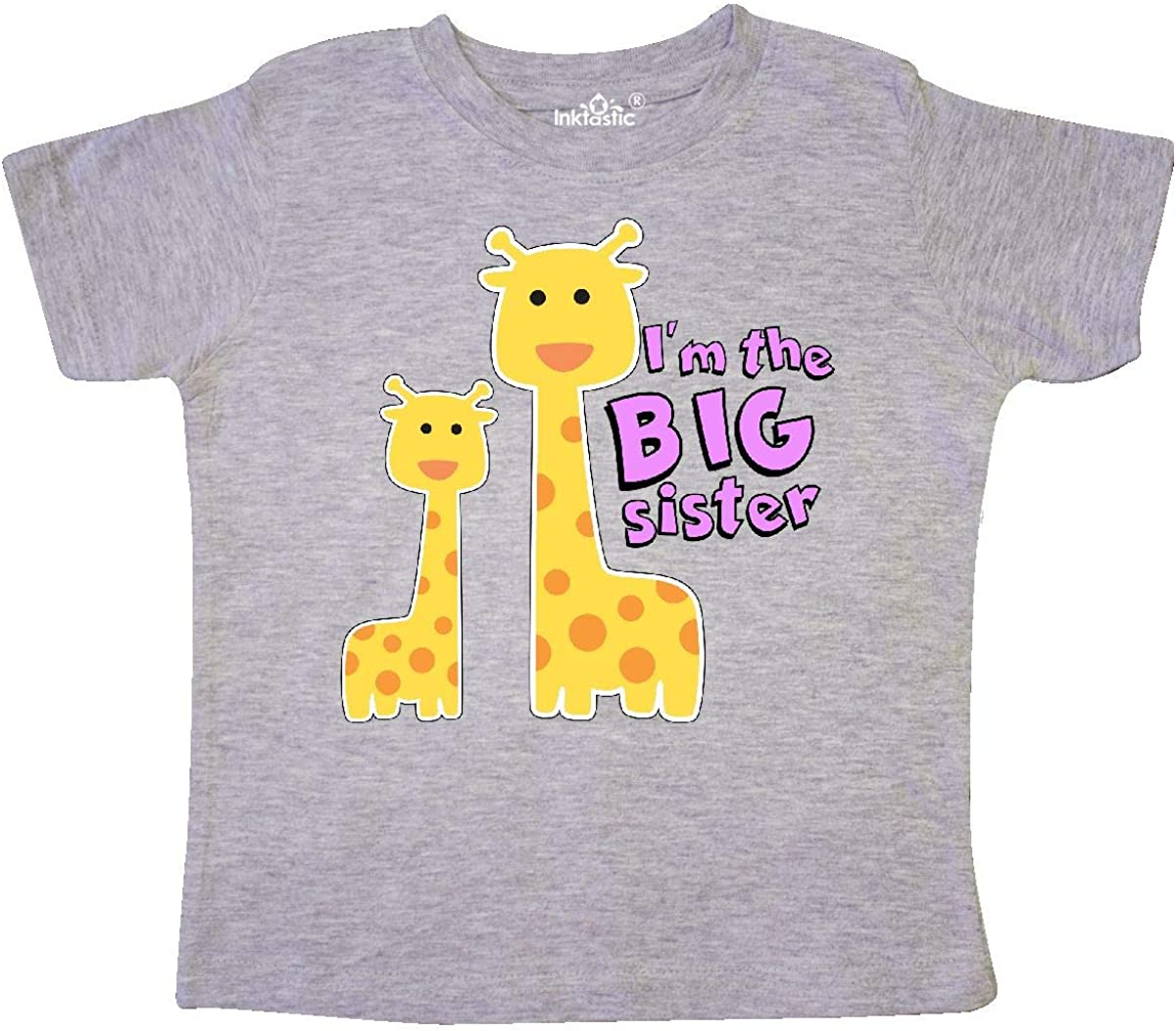 inktastic Big Sister Giraffe Toddler T-Shirt