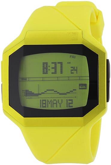 Quiksilver Addictiv M128TR-AYEL - Reloj digital para hombre, correa de plástico color amarillo