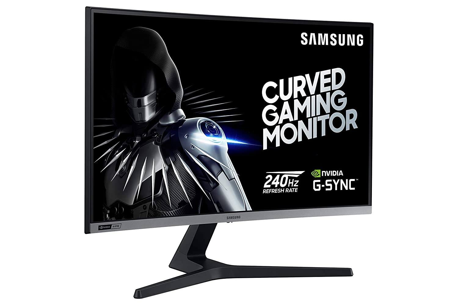 Samsung 27-Inch CRG5 240Hz Curved Gaming Monitor LC27RG50FQNXZA Computer Monitor, 1920 x 1080p Resolution, 4ms Response Time, G-Sync Compatible, HDMI