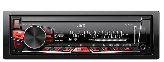 249 opinioni per JVC KD-X220 Digital Media Receiver con USB e AUX Frontali, Nero/Rossa