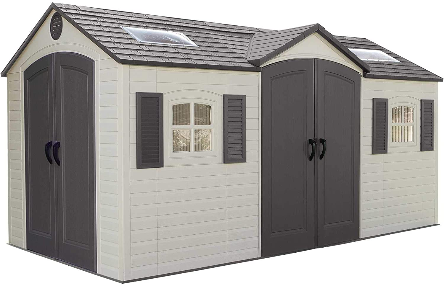Lifetime 15x8 Outdoor Storage Dual Entry Shed