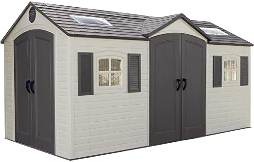 Amazon.com: Cobertizo para jardín con doble entrada ...