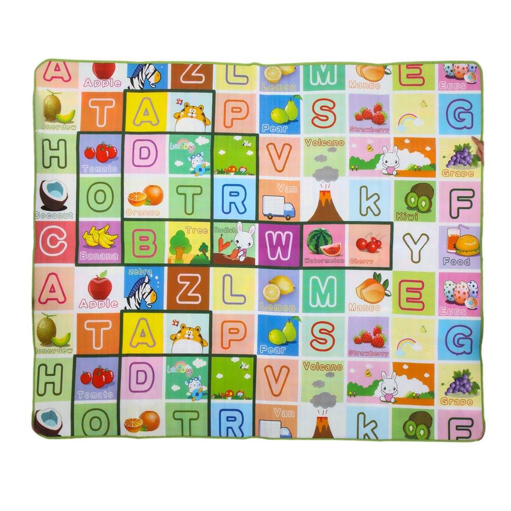 Chinatera Crawl Play Game Picnic Carpet Letter Alphabet Mat Baby Kids Play Mat Crawling Pad Educational Toy