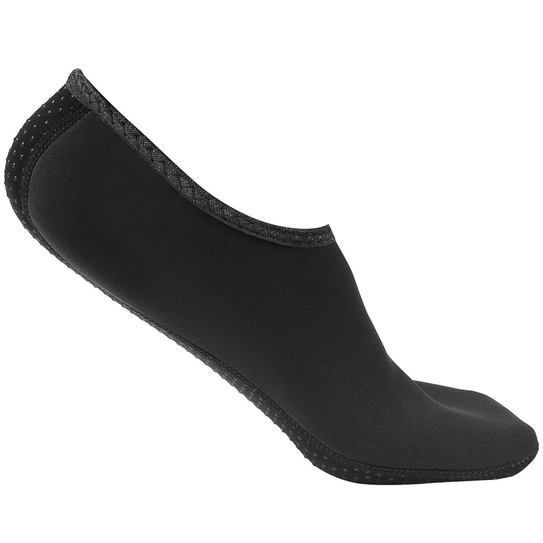 MoKo Barefoot Water Shoes forメンズレディース、速乾性Aqua Socks水スポーツ靴Swim、ビーチ、プール、サーフィン、砂、ヨガ練習 B072ZXW8FG  ブラック XL