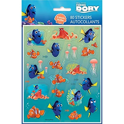 Finding Dory Sticker Sheets, 4ct: Toys & Games