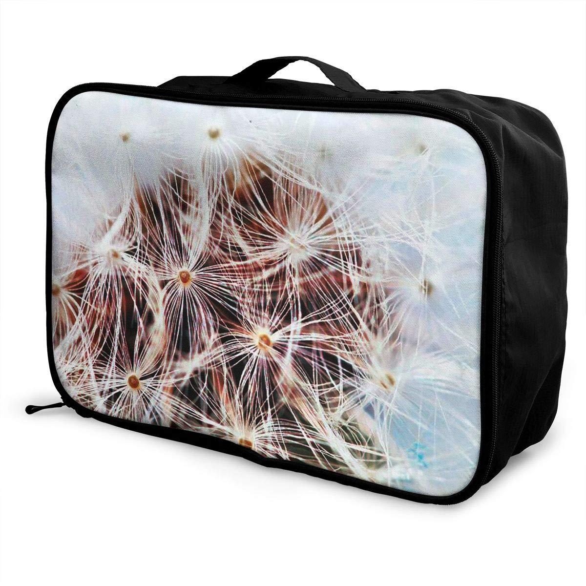 Travel Luggage Duffle Bag Lightweight Portable Handbag Dandelion Print Large Capacity Waterproof Foldable Storage Tote