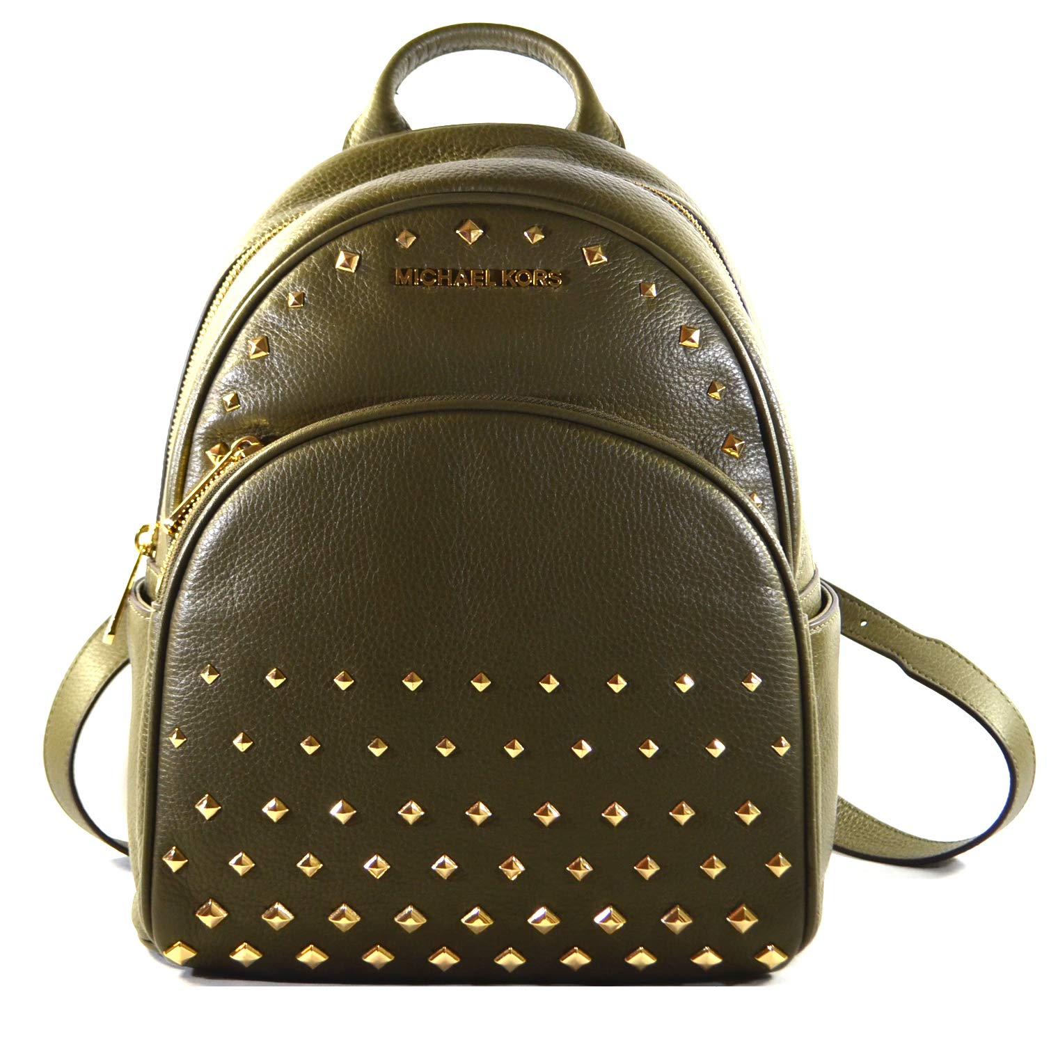 Michael Kors Abbey Medium Studded Backpack Olive