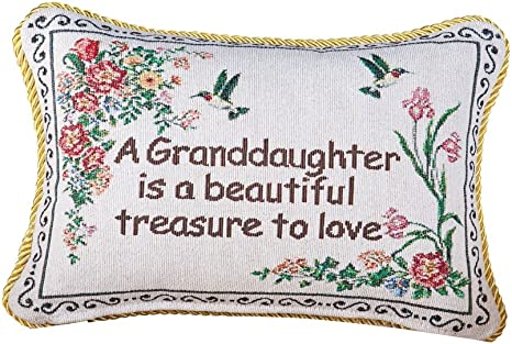 Amazon Com Collections Etc Granddaughter Floral Tapestry Throw Pillow Gifts For Granddaughter Home Decor Accent 12 X 9 Inches Home Kitchen