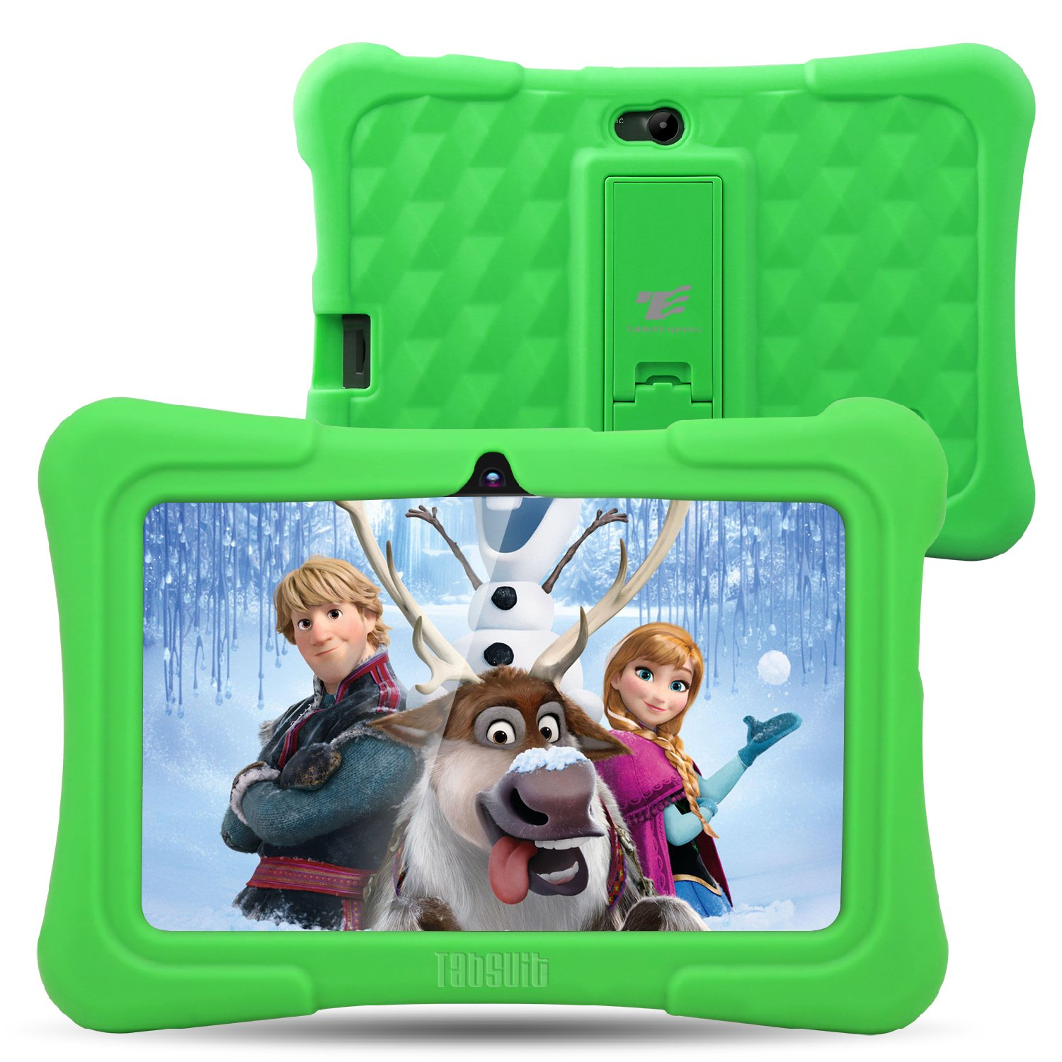 Dragon Touch Y88X Plus 7 inch Kids Tablet, Kidoz Pre-Installed with Disney Content (More Than $80 Value) (a.Green)