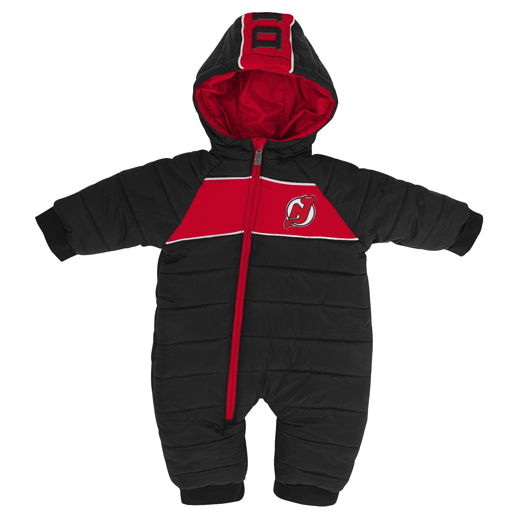 quality design cd579 f1c6c Details about Outerstuff NHL New Jersey Devils Newborn & Infant Puck Drop  Puffer Bodysuit, B..