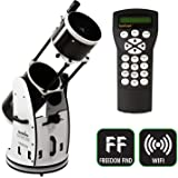 SkyWatcher Flextube 250 SynScan Dobsonian 10-inch Collapsible Computerized GoTo Large Aperture Telescope, White, Model…
