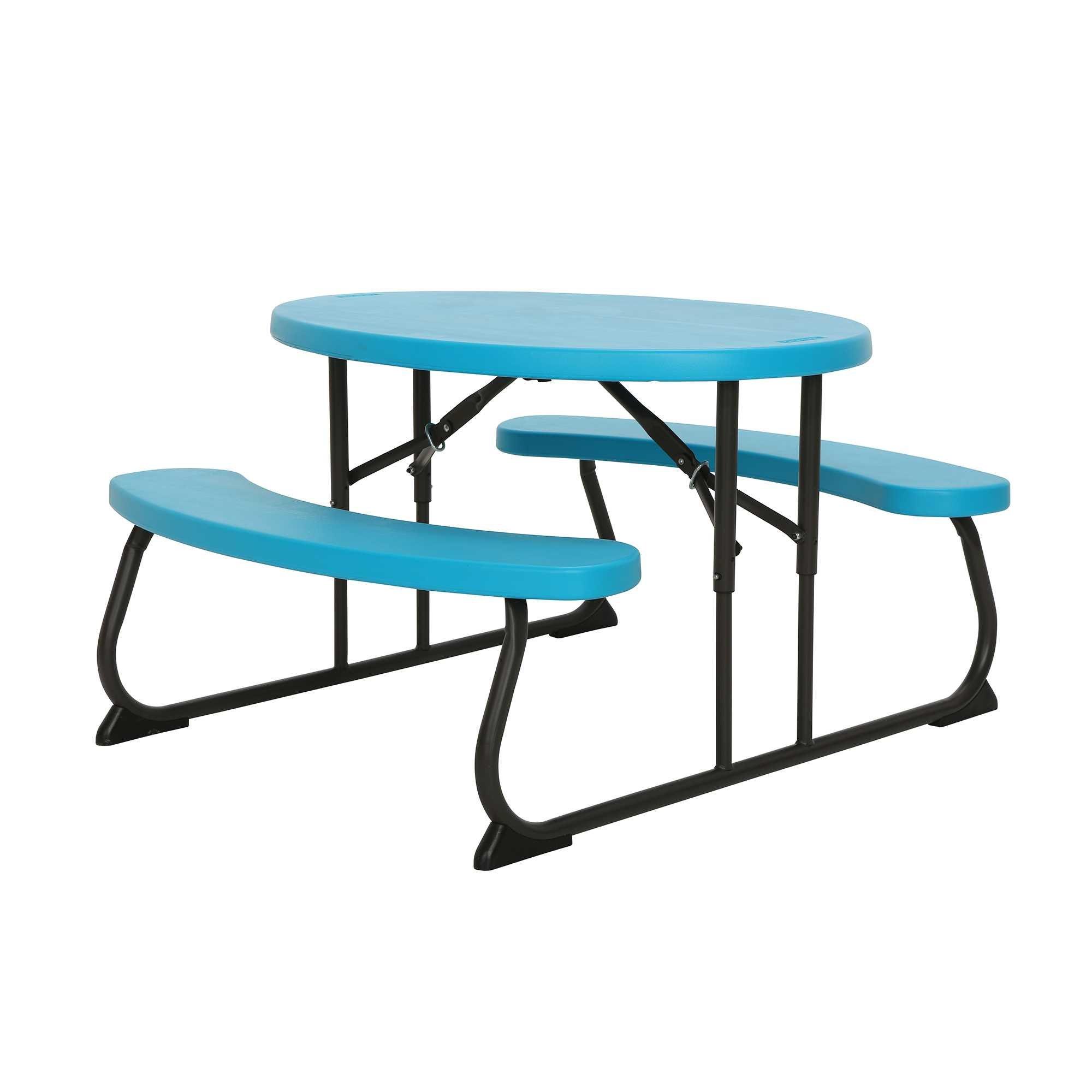 Lifetime 60229 Kids Oval Picnic Table, Glacier Blue by Lifetime