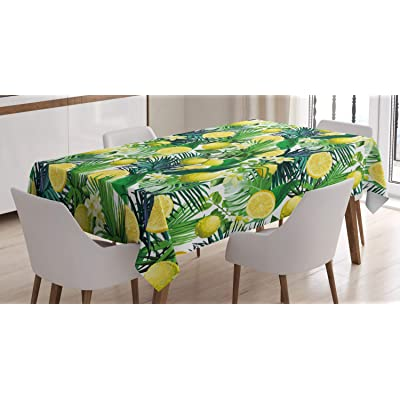 New Dining Green Tropical Spring Picnic Patio Indoor /& Outdoor Tablecloth