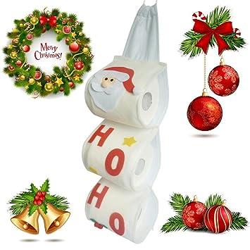 Toalla de papel bolsas, sacow Papá Noel juego de toallas cubre Navidad vacaciones fiesta bolsas de toalla de papel: Amazon.es: Hogar