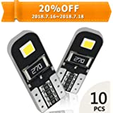 OXILAM 10x 194 LED Bulbs Super Bright 6000K White CANBUS with 2835 Chipsets for T10 W5W 2825 168 LED Bulbs Replacement, Widely Used as Parking Lights Door Lights License Plate Lights (10 PCS)
