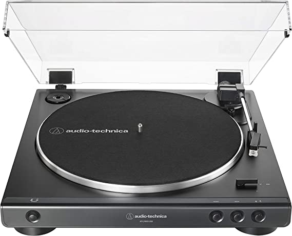 Audio-Technica AT-LP60XUSB-BK Fully Automatic Belt-Drive Stereo Turntable