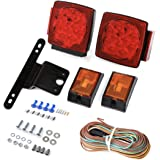 CZC AUTO 12V Submersible LED Trailer Tail Light Kit for Under 80 Inch Trailer Boat Utility Trailer Waterproof (Trailer…