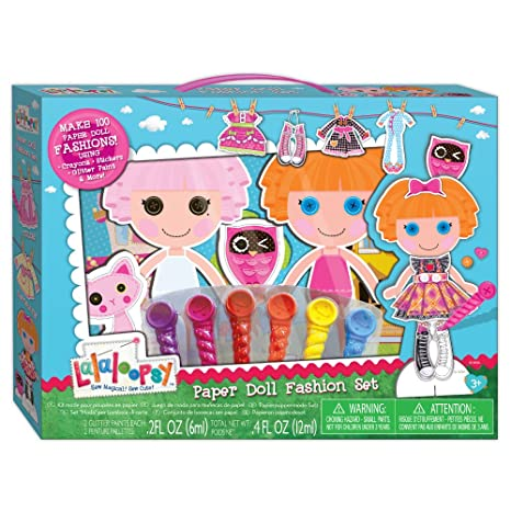 Amazoncom Lalaloopsy Paper Doll Fashion Set Toys Games