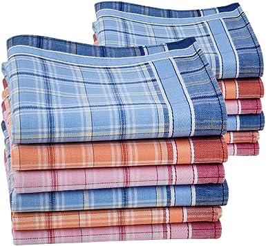 HOULIFE - Pañuelos de bolsillo para mujer de algodón puro peinado ...