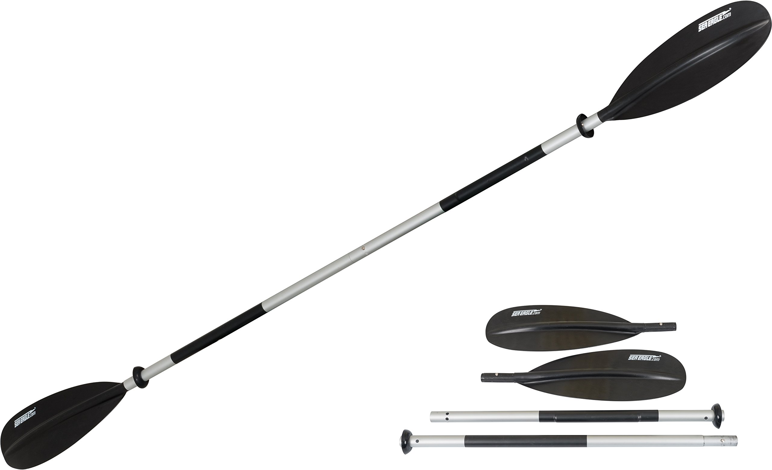 Sea Eagle 7'10'' 4 Part Easy Pack Kayak Paddle with Asymetrical Fibrylon Blades by Sea Eagle