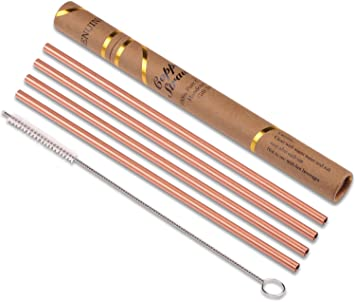 Reusable Copper Straws