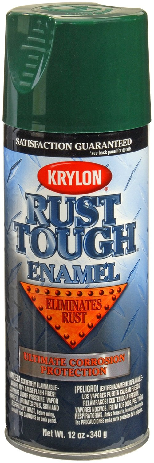 Krylon RTA9223 'Rust Tough' Hunter Green Rust Preventive Enamel - 12 oz. Aerosol