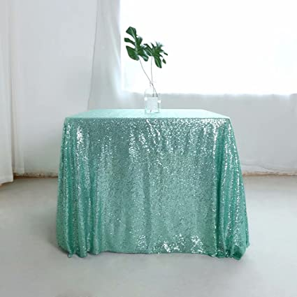 Amazoncom GFCC Sequin Dining Table Cover Square Shimmer Tablecloth - 72 x 72 square dining table